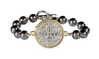 St. Benedict Two Toned Bracelet