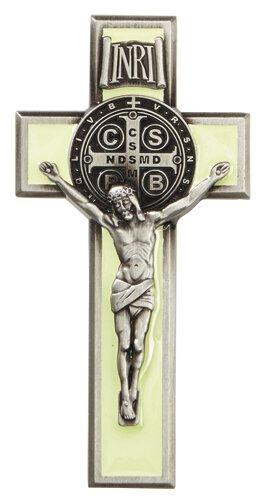 St. Benedict Luminous Crucifix Visor Clip
