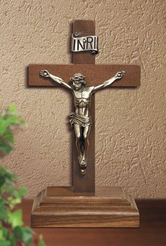 Walnut Standing Crucifix