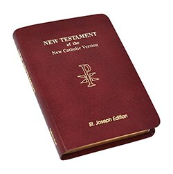 St Joseph NAB New Testament - Leather Vest Pocket Ed