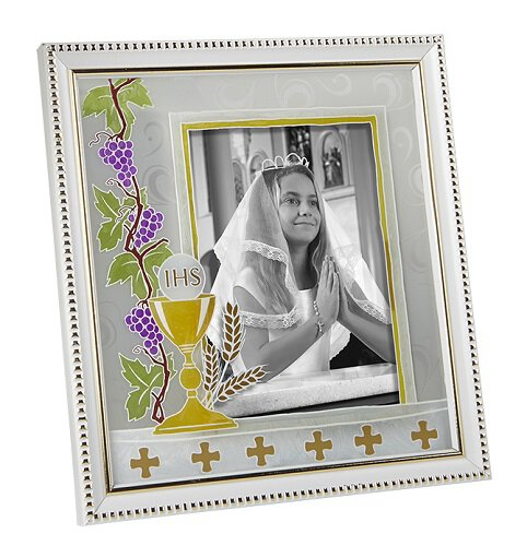 First Communion Photo Frame - White