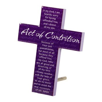 Act of Contrition Cross - 4/pk