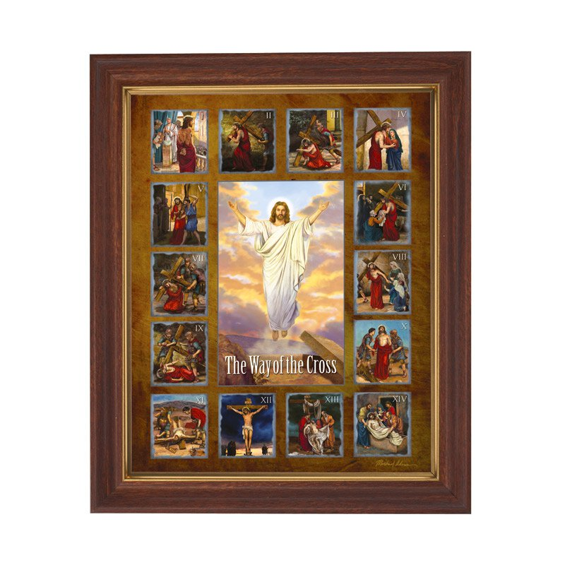 Adams: Stations of the Cross Framed Print