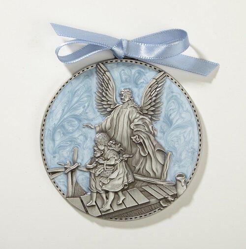 Guardian Angel Crib Medal - Blue