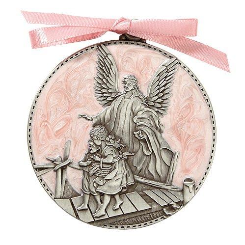 Guardian Angel Crib Medal - Pink