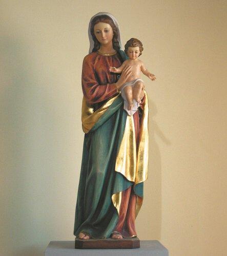 "48"" Madonna and Child Fiberglass Statue"