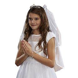 Crystal Tiara First Communion Veil