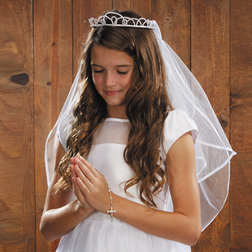 Pearl Tiara First Communion Veil