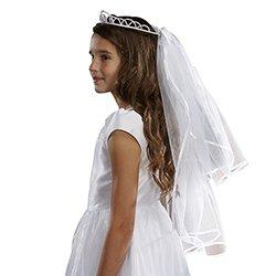 Pearl Tiara First Communion Veil