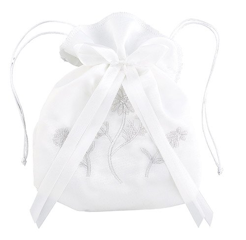 First Communion Floral Drawstring Purse