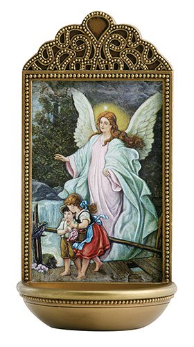 """Guardian Angel 6"""" Holy Water Font"""