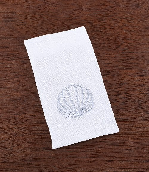 Keepsake Baptismal Napkin with Shell - 4/pk
