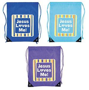 Jesus Loves Me! Backpack Assortment (3 Asst) - 12/pk