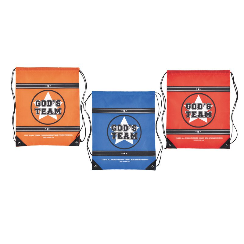 God's Team Backpack Assortment (3 Asst) - 12/pk