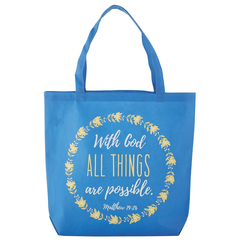 With God, All Things Are Possible Tote Bag - 12/pk