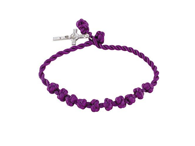 Lenten Knotted Cord Rosary Bracelet - 24/pk