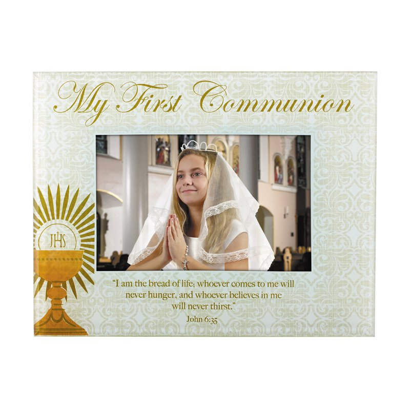 My First Communion Glass Photo Frame - 4/pk
