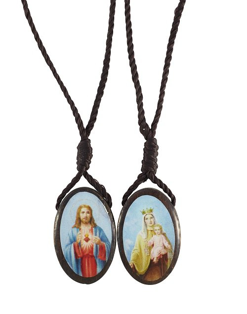 Large Oval Wood Scapular - 24/pk