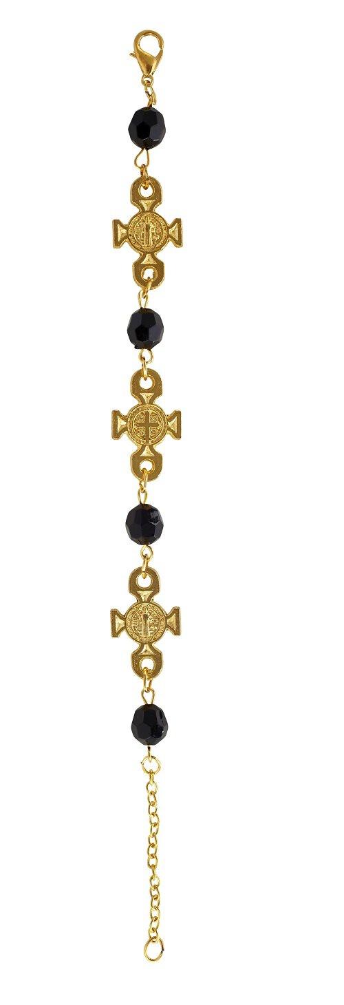 St. Benedict Gold Maltese Cross Bracelet - 12/pk