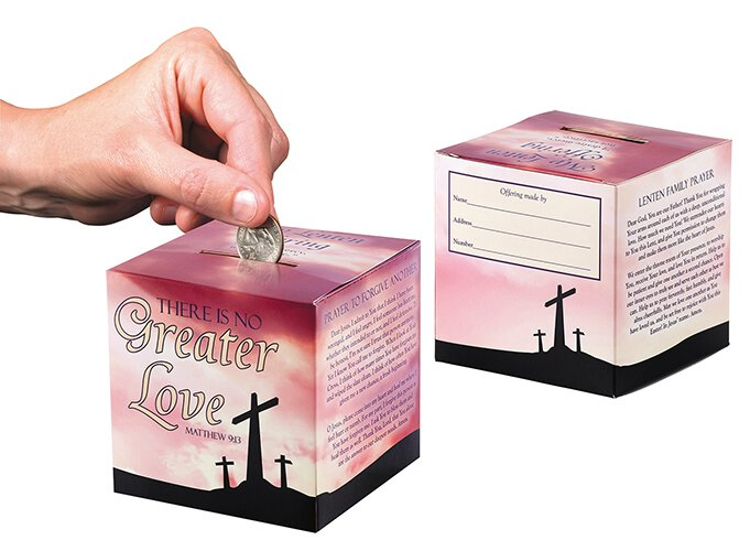 No Greater Love Family Lenten Offering Box - 50/pk