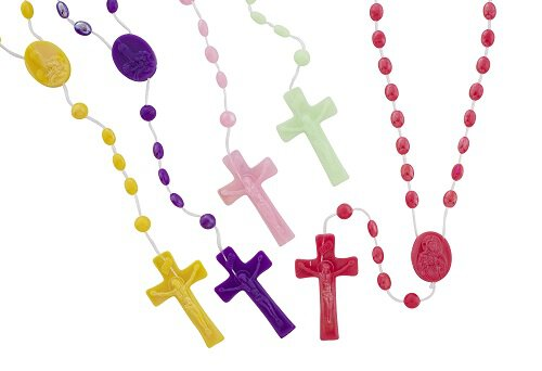 Pearlized Cord Rosary Assortment (5 Asst) - 100/pk