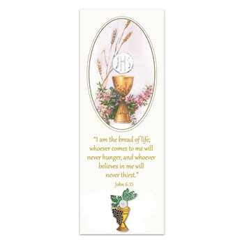 First Communion Lapel Pin with Bookmark - 12/pk