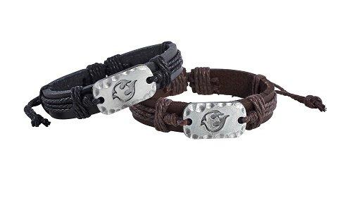 Confirmation Holy Spirit Leather Bracelets (2 Asst) - 12/pk