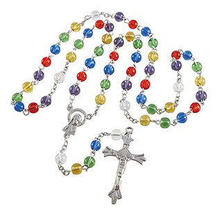 Colors of Faith Rosary with Card - 6/pk