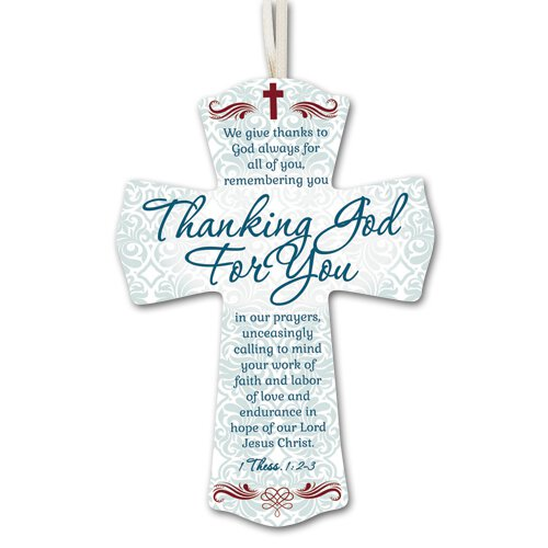 Thanking God For You Cross - 12/pk