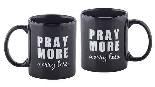 Pray More, Worry Less Mug - 6/pk