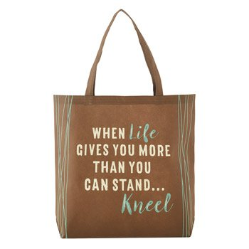 When Life Gets Too Hard to Stand, Kneel Tote Bag - 12/pk