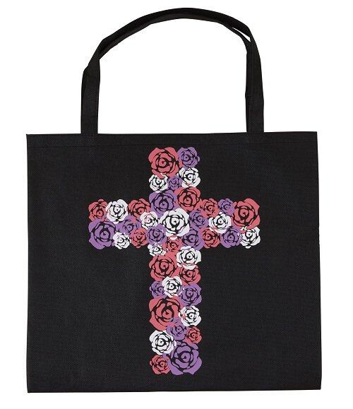 Rose Cross Tote Bag - 12/pk