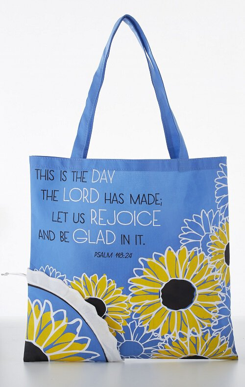 This is the Day the Lord Has Made Tote Bag with Pouch - 12/pk