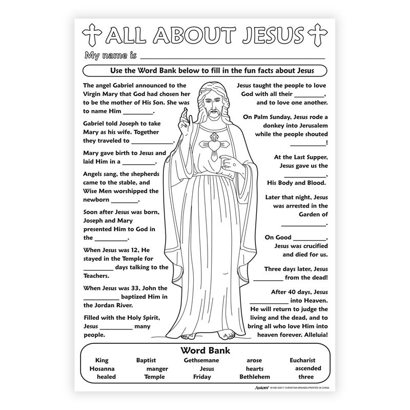 Color Your Own Poster - All About Jesus - 50/pk