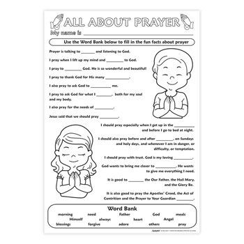 Color Your Own Poster - All About Prayer - 50/pk
