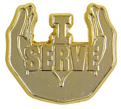 I Serve Lapel Pin - 25/pk