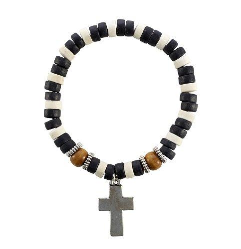 Beaded Cross Bracelets (2 Asst) - 12/pk