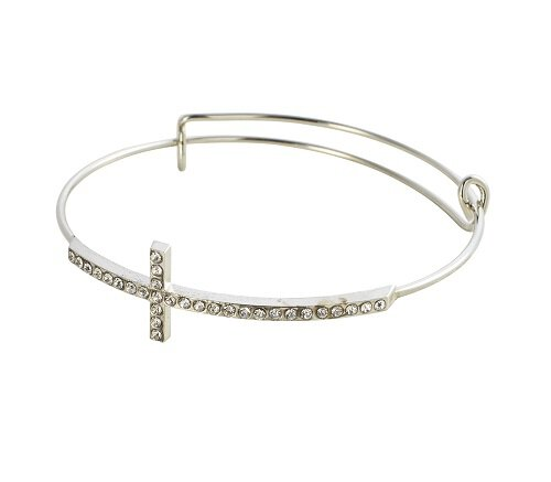 Brilliant Cross Bangle Bracelet - 12/pk