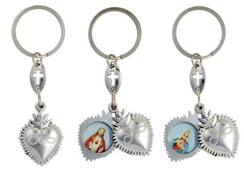 Sacred Hearts Sliding Key Chain - 12/pk