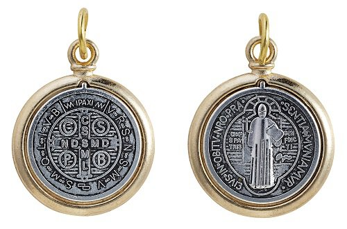 Two-Tone St. Benedict Medal - 25/pk