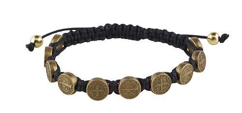 St. Benedict Bronze Medal Bracelet - 12/pk