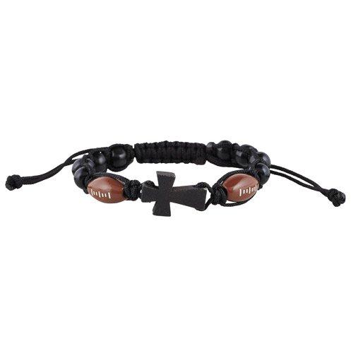 Football Sport Rosary Bracelet - 12/pk
