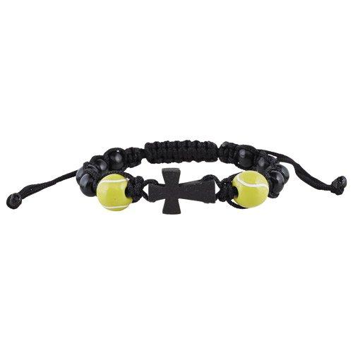 Tennis Sport Rosary Bracelet - 12/pk