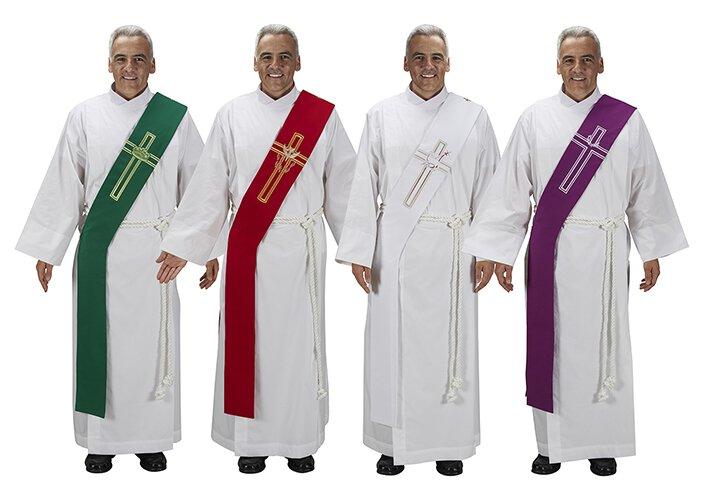 Lucia Collection Deacon Stoles - Set of 4