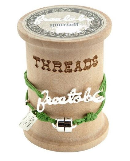 Threads String Bracelet Free To Be
