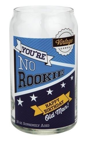 Beer Can Glass No Rookie