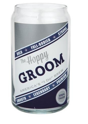 Beer Can Glass Hoppy Groom