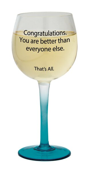 Wine Glass -Congratulations