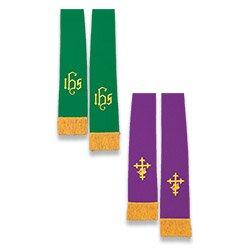 Reversible Stole - Purple/Green