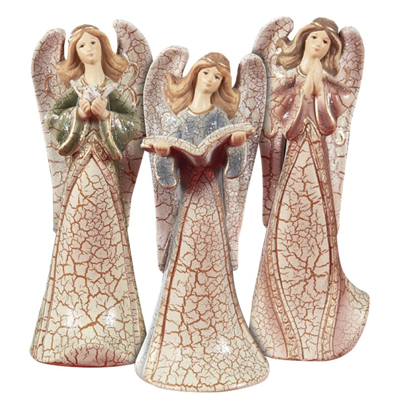 Crackle Finish Three Angels